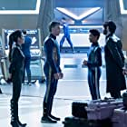 Michelle Yeoh, Anson Mount, Ethan Peck, and Sonequa Martin-Green in Star Trek: Discovery (2017)