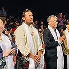 Pema Tseden and Jinpa at an event for Qi qiu (2019)