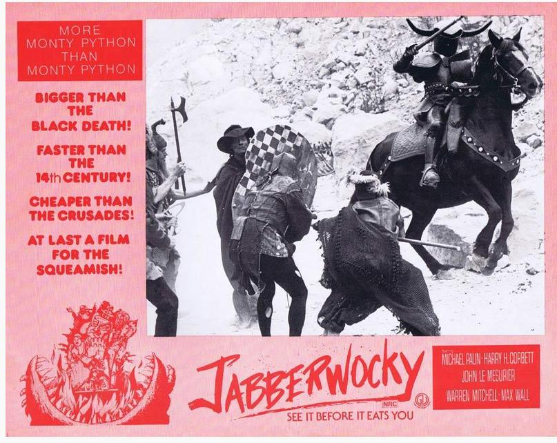 David Prowse and Michael Palin in Jabberwocky (1977)