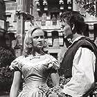 Vladimír Ráz and Alena Vránová in Pysná princezna (1952)
