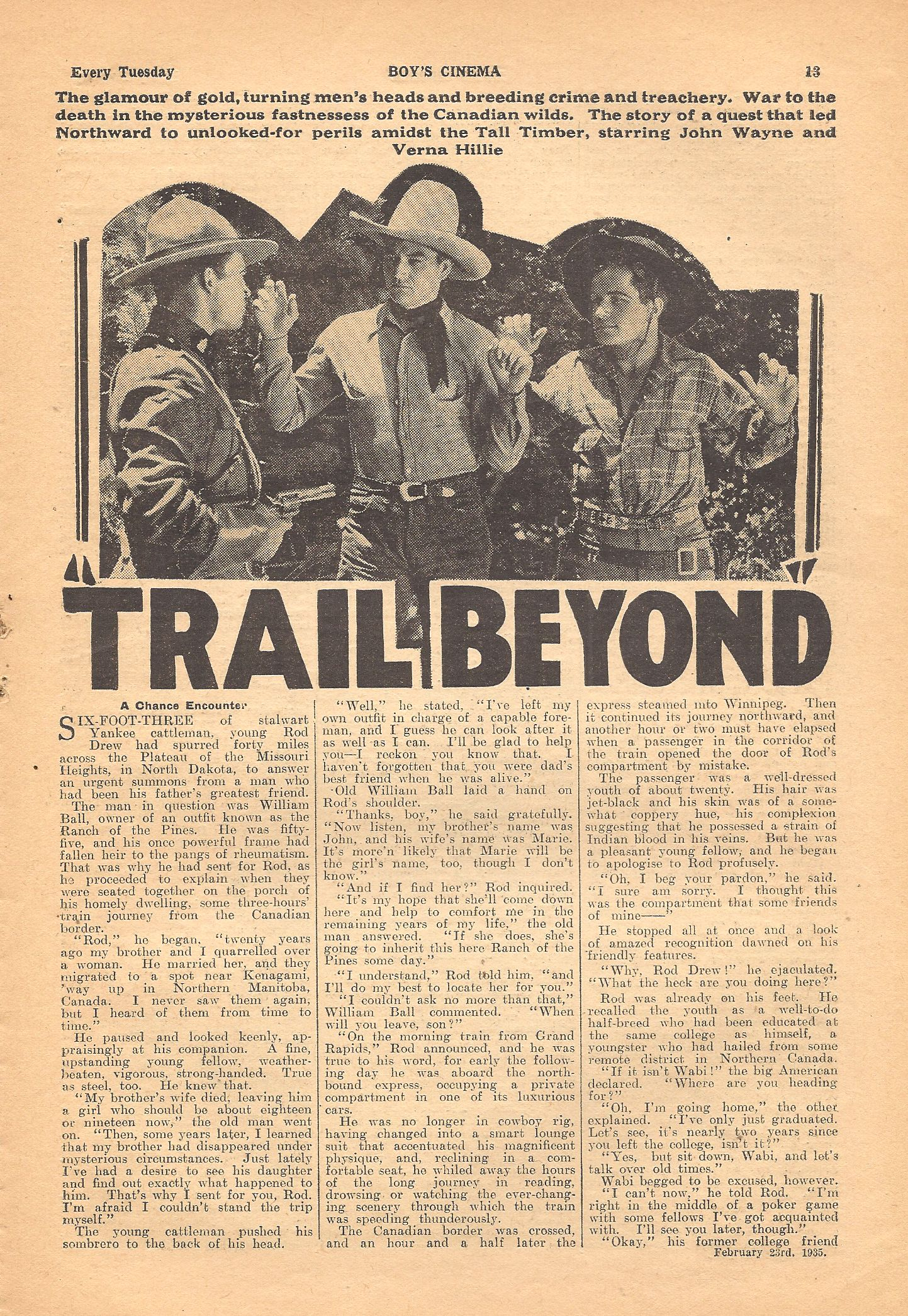 John Wayne, Noah Beery Jr., and Eddie Parker in The Trail Beyond (1934)