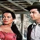Rory Calhoun and Lita Baron in Red Sundown (1956)