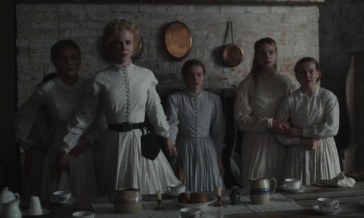 Nicole Kidman, Kirsten Dunst, Elle Fanning, Angourie Rice, Addison Riecke, and Emma Howard in The Beguiled (2017)