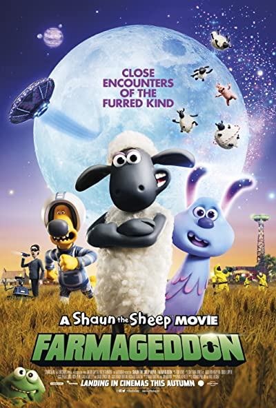 Poster of A Shaun the Sheep Movie: Farmageddon 2019 Full English Free Download Watch Online In HD Movie Download 480p BluRay