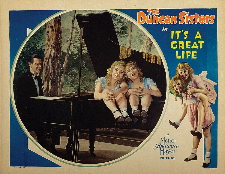 Rosetta Duncan, Vivian Duncan, and Lawrence Gray in It's a Great Life (1929)