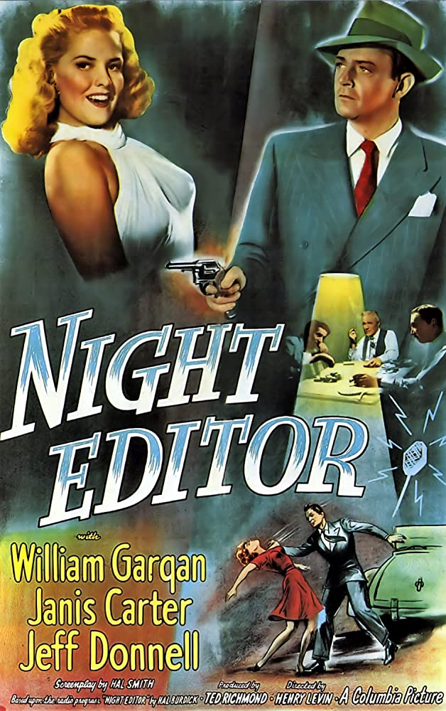 Janis Carter and William Gargan in Night Editor (1946)