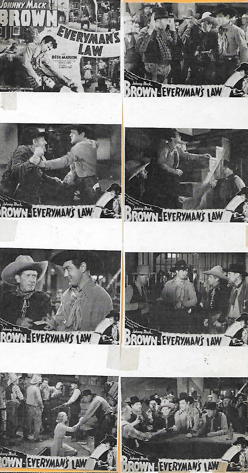 Richard Alexander, Barney Beasley, John Beck, Johnny Mack Brown, Frank Campeau, Roger Gray, Lloyd Ingraham, Beth Marion, Horace Murphy, and Slim Whitaker in Everyman's Law (1936)