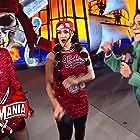 Pamela Martinez, Brie Bella, and Nikki Bella in WrestleMania 37 (2021)