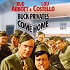 Bud Abbott, Lou Costello, Jimmie Dodd, Nat Pendleton, Don Porter, and Robert J. Wilke in Buck Privates Come Home (1947)