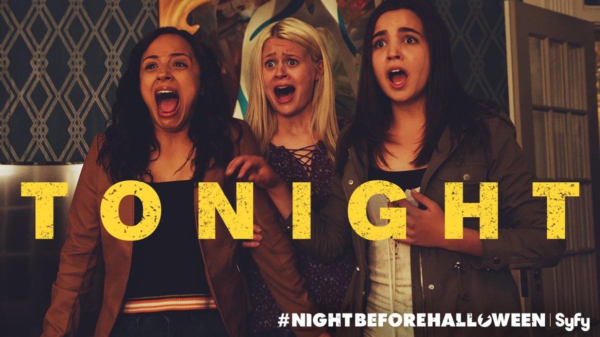 Bailee Madison, Kiana Madeira, and Natalie Ganzhorn in The Night Before Halloween (2016)