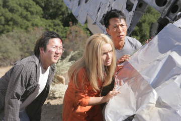 Hayden Panettiere, Masi Oka, and James Kyson in Heroes (2006)