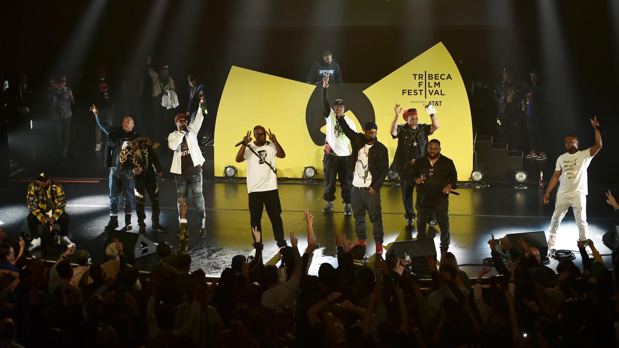 Inspectah Deck, Ghostface Killah, Method Man, Raekwon, RZA, Bar-Sun Unique Jones, U-God, Mathematics, Cappadonna, and Popa Wu at an event for Wu-Tang Clan: Of Mics and Men (2019)
