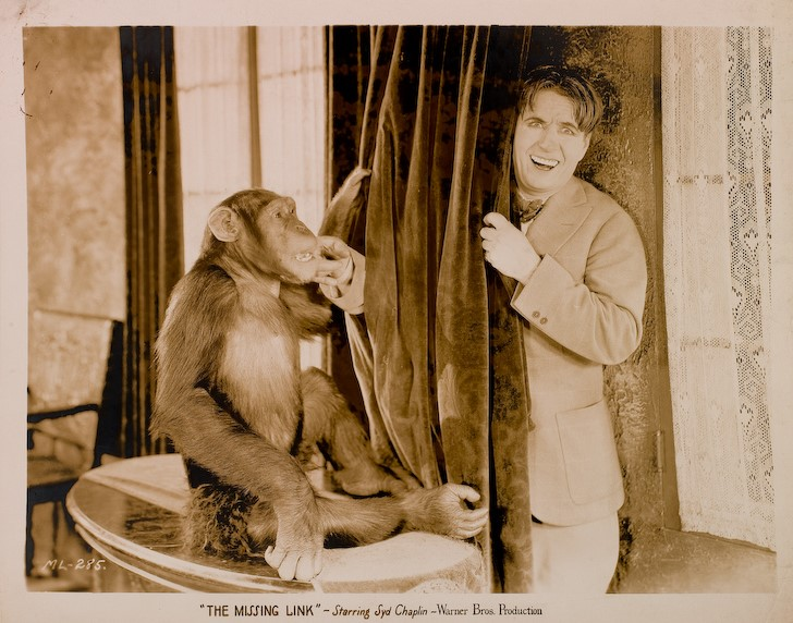 Syd Chaplin and Akka the Chimp in The Missing Link (1927)