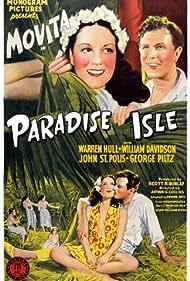 Warren Hull, Movita, and George Piltz in Paradise Isle (1937)