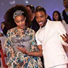 Amandla Stenberg and Algee Smith at an event for The Hate U Give (2018)
