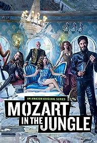 Malcolm McDowell, Bernadette Peters, Saffron Burrows, Gael García Bernal, and Lola Kirke in Mozart in the Jungle (2014)
