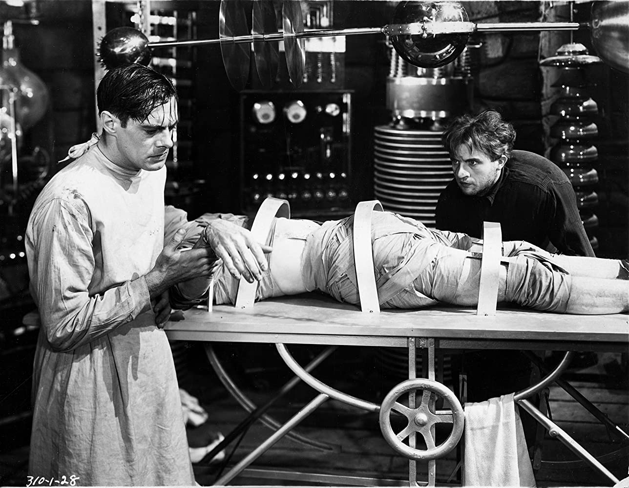 Colin Clive and Dwight Frye in Frankenstein (1931)