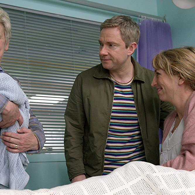 Joanna Bacon, Martin Freeman, and Daisy Haggard in Breeders: No Sleep (2020)