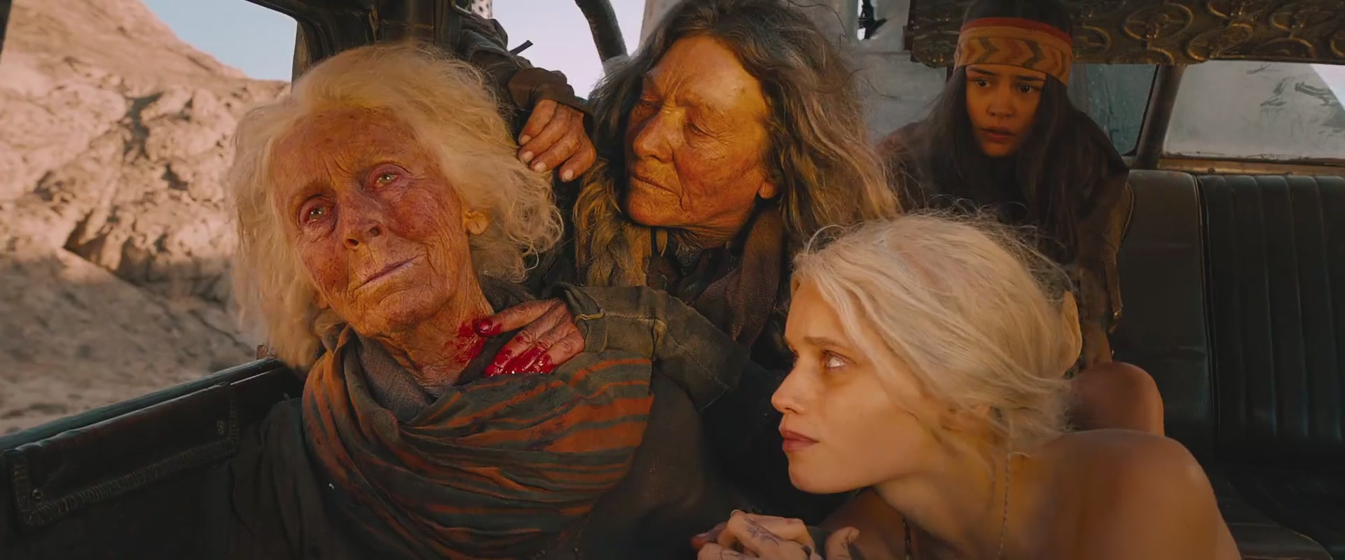 Melissa Jaffer, Abbey Lee, and Courtney Eaton in Mad Max: Fury Road (2015)