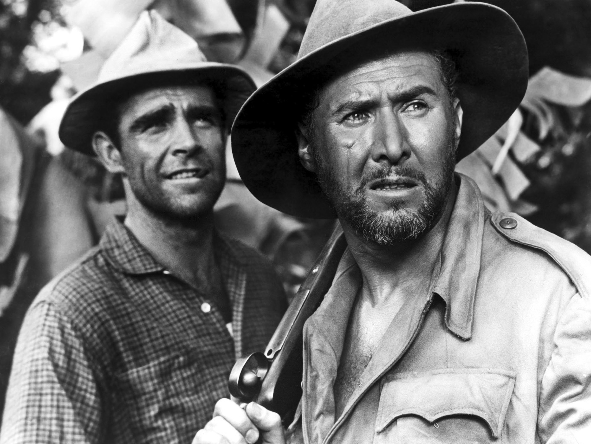 Sean Connery and Anthony Quayle in Tarzan's Greatest Adventure (1959)