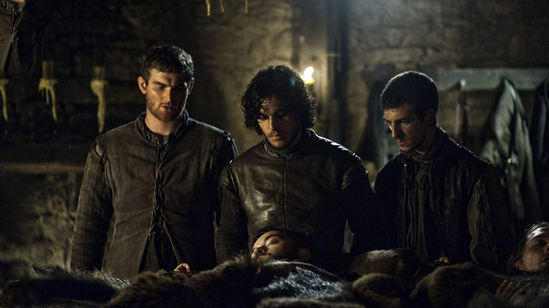 Josef Altin, Kit Harington, and Mark Stanley in Game of Thrones (2011)