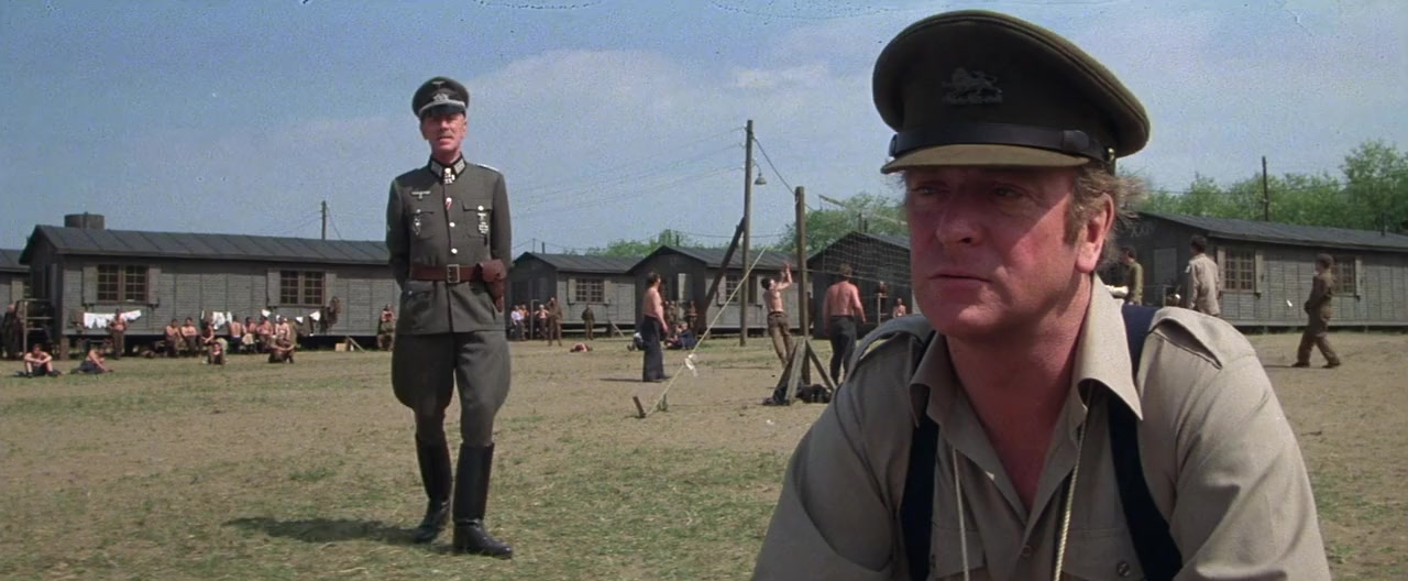 Michael Caine and Max von Sydow in Victory (1981)