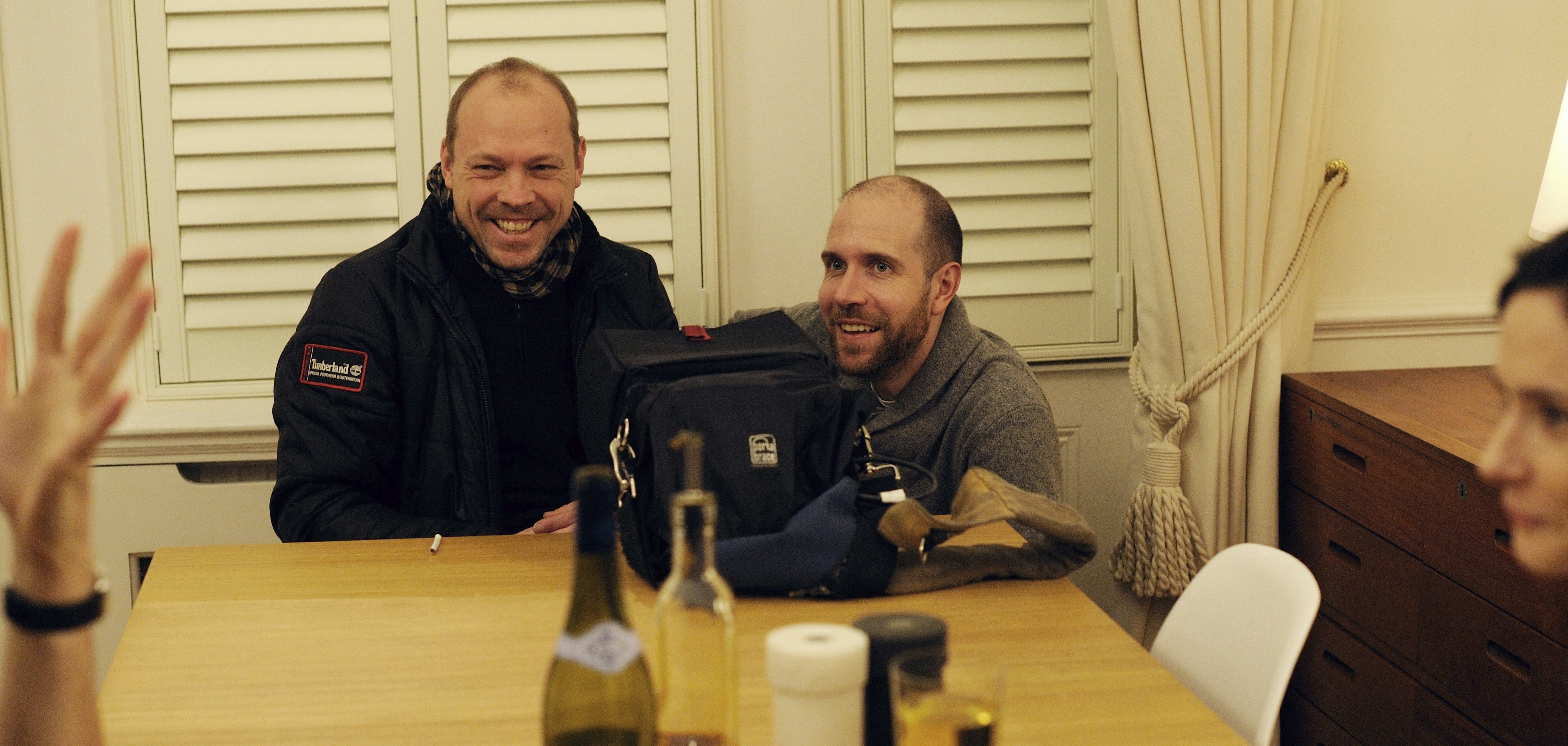 Behind the scenes - Love/Me/Do Writer/Director Martin Stitt with Producer Ian Prior