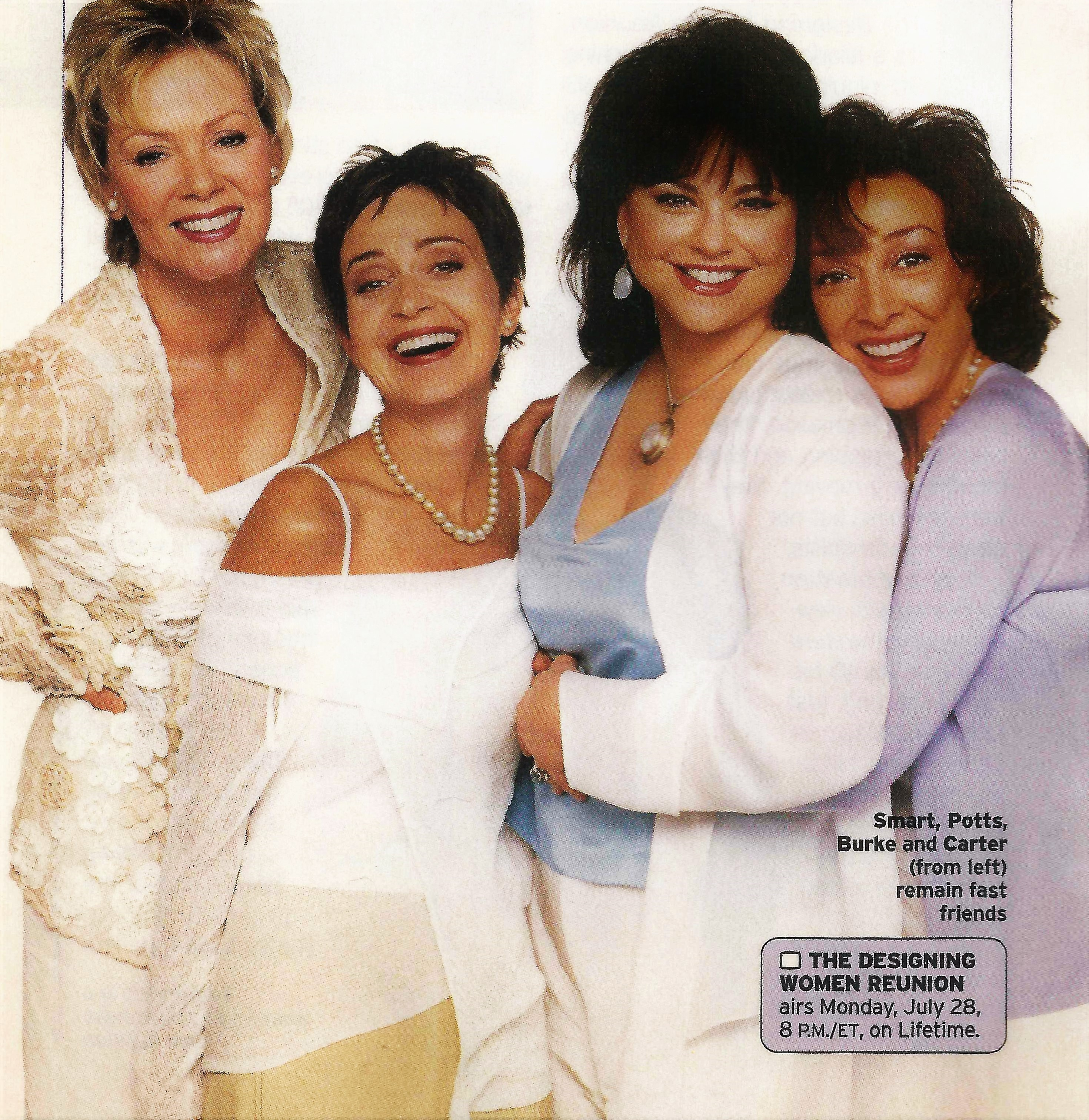 Annie Potts, Delta Burke, Jean Smart, and Dixie Carter in The Designing Women Reunion (2003)