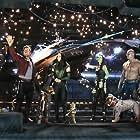 Vin Diesel, Bradley Cooper, Chris Pratt, Zoe Saldana, Dave Bautista, and Pom Klementieff in Disneyland Resort: Guardians of the Galaxy - Mission Breakout! (2017)