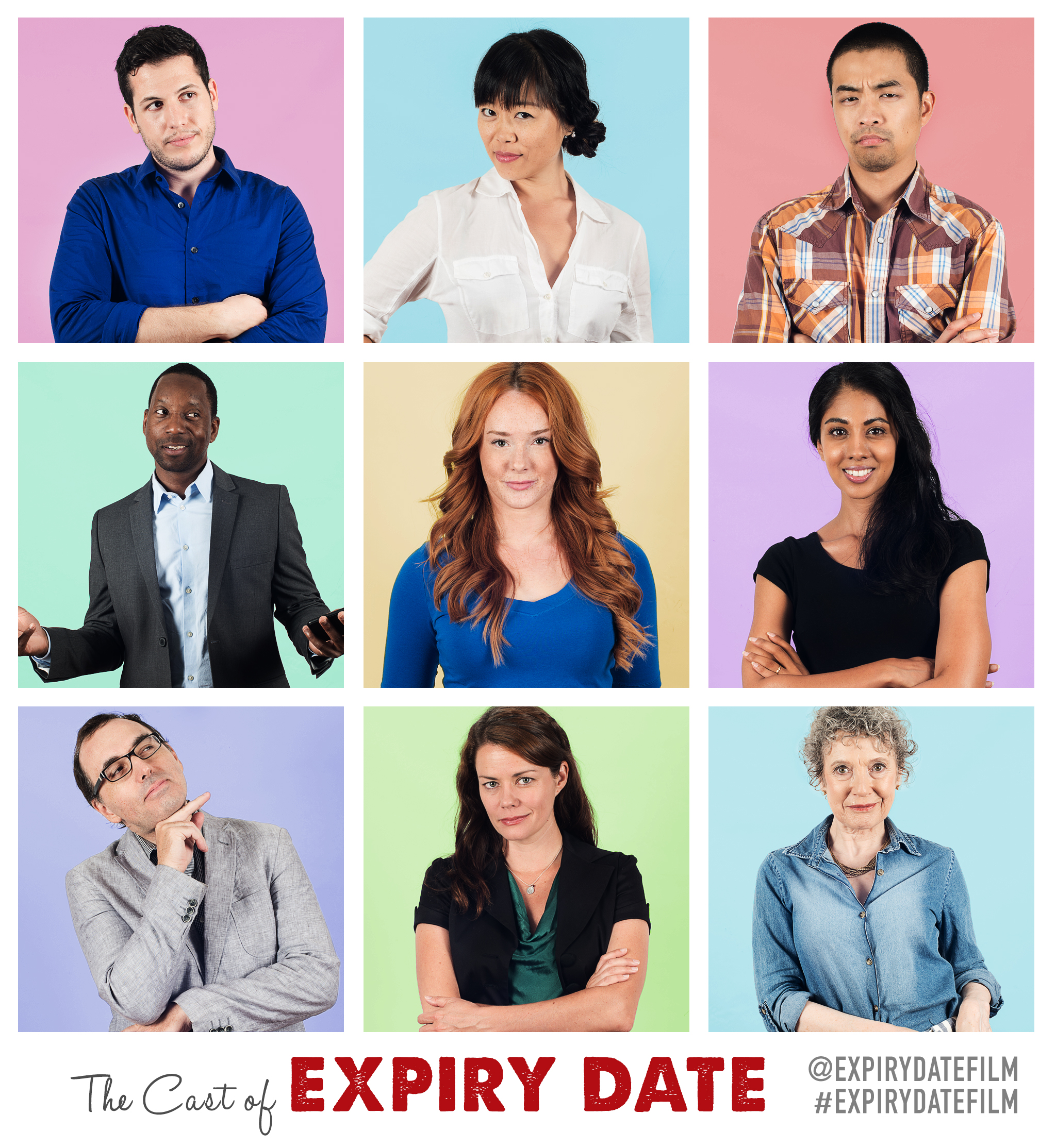 Christy Bruce, Jill Frappier, Albert Howell, Grace Lynn Kung, Jackie English, Alexander Wong, Sarena Parmar, Nigel Downer, David Emanuel Faria, Brittany Johnson, Mariah Owen, and Brittany Johnson in Expiry Date (2017)