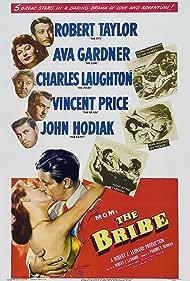 Ava Gardner, Charles Laughton, Vincent Price, Robert Taylor, and John Hodiak in The Bribe (1949)