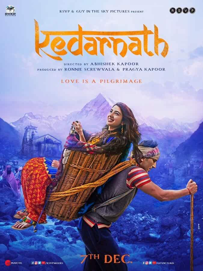 Sushant Singh Rajput and Sara Ali Khan in Kedarnath (2018)