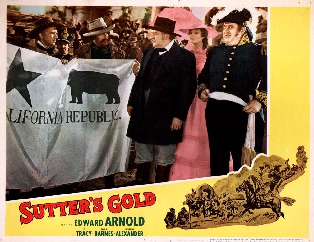 Binnie Barnes, Edward Arnold, and Billy Gilbert in Sutter's Gold (1936)