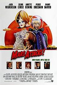 Pierce Brosnan, Jack Nicholson, Glenn Close, Danny DeVito, and Annette Bening in Mars Attacks! (1996)