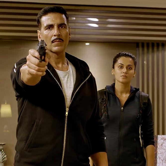 Akshay Kumar and Taapsee Pannu in Naam Shabana (2017)