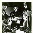 Jeffrey Hunter, Richard Widmark, and Richard Boone in Red Skies of Montana (1952)