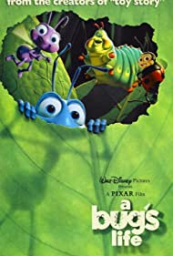 Denis Leary, Dave Foley, Hayden Panettiere, and Joe Ranft in A Bug's Life (1998)