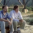 Thomas Haden Church and Paul Giamatti in Sideways (2004)