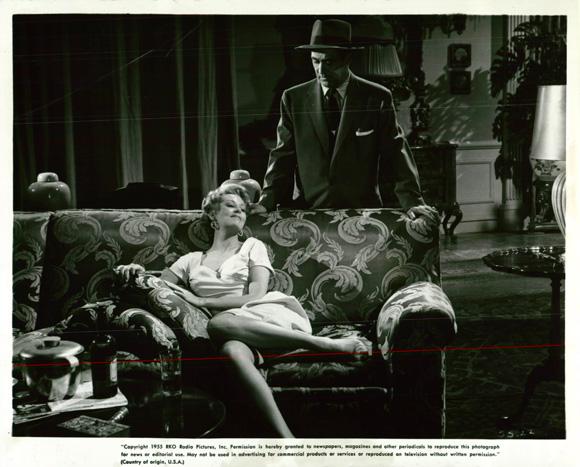 Arlene Dahl and Ted de Corsia in Slightly Scarlet (1956)