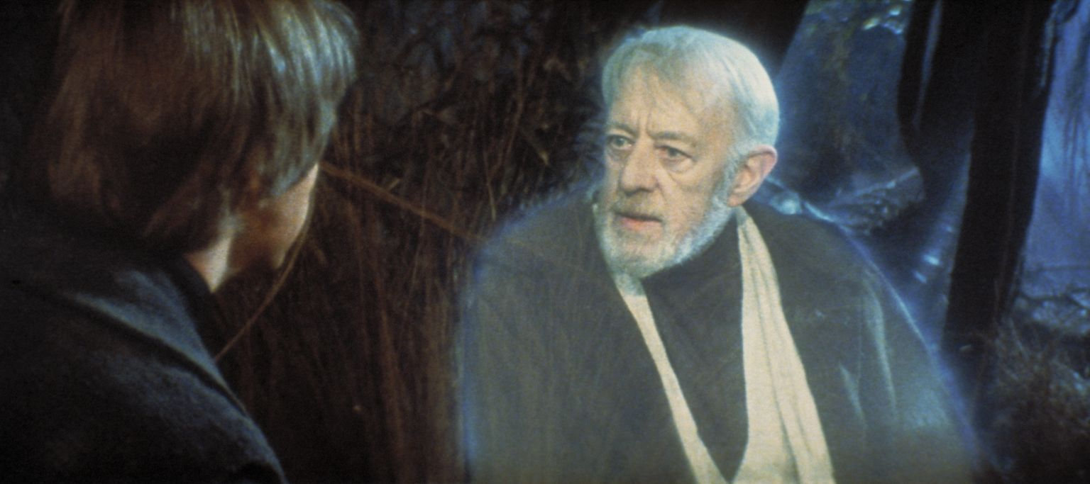 Alec Guinness and Mark Hamill in Star Wars: Episode VI - Return of the Jedi (1983)