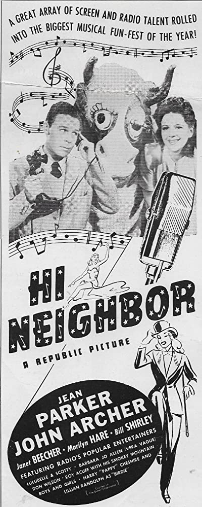 John Archer and Marilyn Hare in Hi, Neighbor (1942)