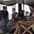 Rosamund Pike, Sam Worthington, Toby Kebbell, and Lily James in Wrath of the Titans (2012)