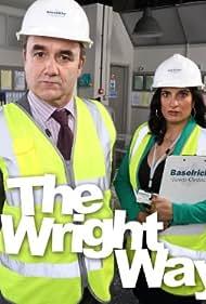 Mina Anwar and David Haig in The Wright Way (2013)