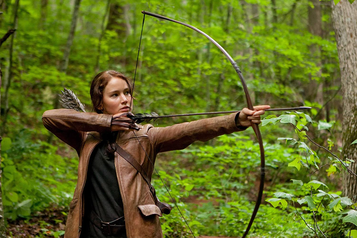 Jennifer Lawrence in The Hunger Games 2012