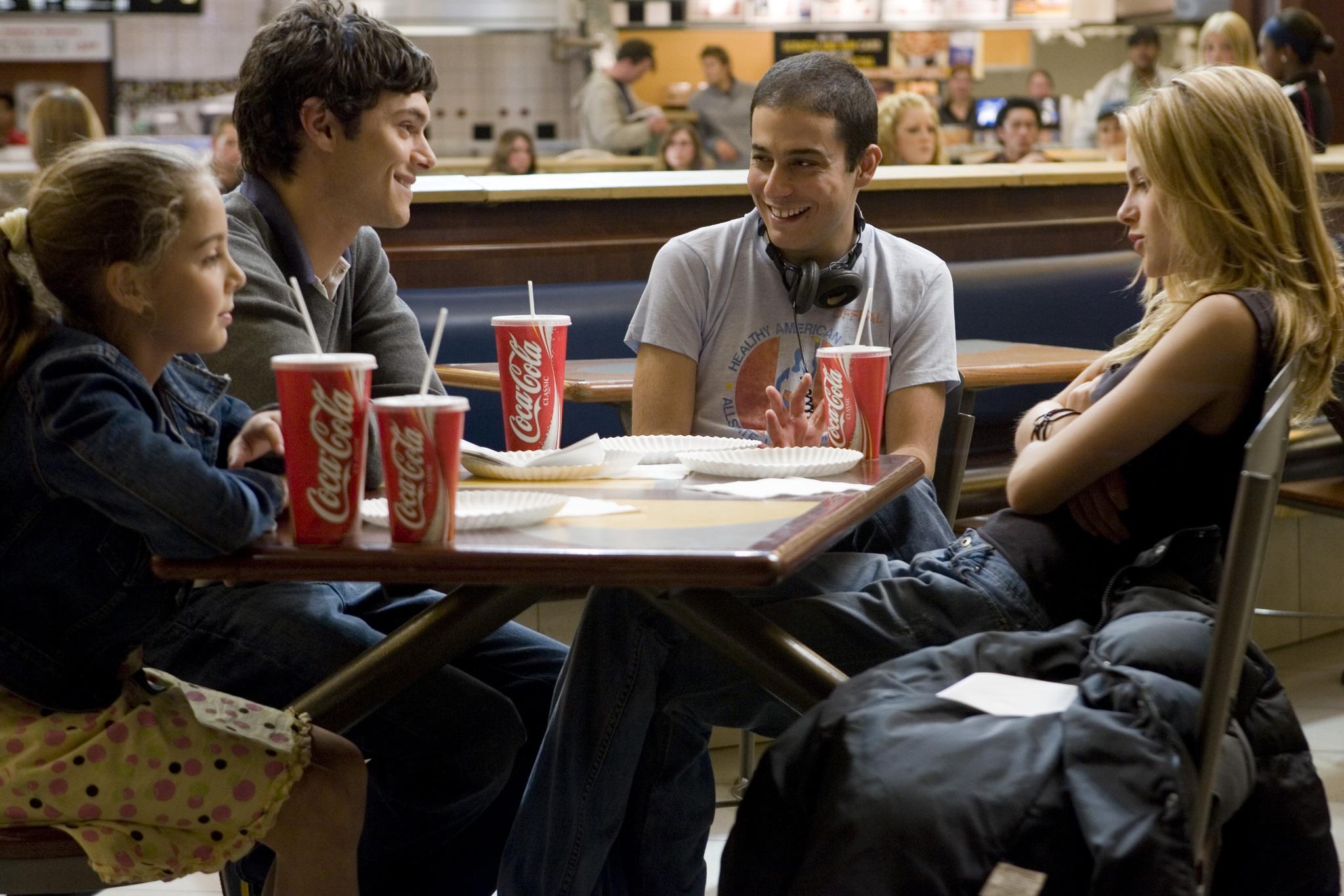 Adam Brody, Jonathan Kasdan, Kristen Stewart, and Makenzie Vega in In the Land of Women (2007)