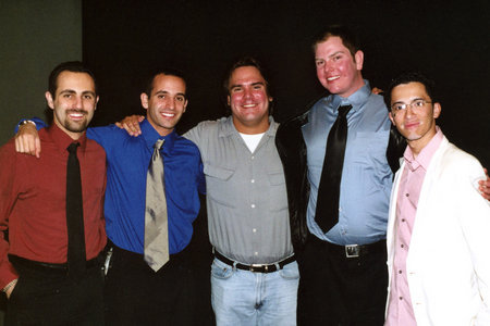 The creative team at the World Premiere of The Writer (from left to right, Producer Koren Young, Sound Designer Ryan Young, Writer-Director Chad Michael, Executive Producer Matthew Chastain, Coproducer Erick Carrero)