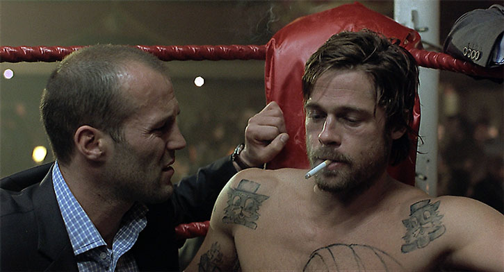 Brad Pitt and Jason Statham in Snatch (2000)