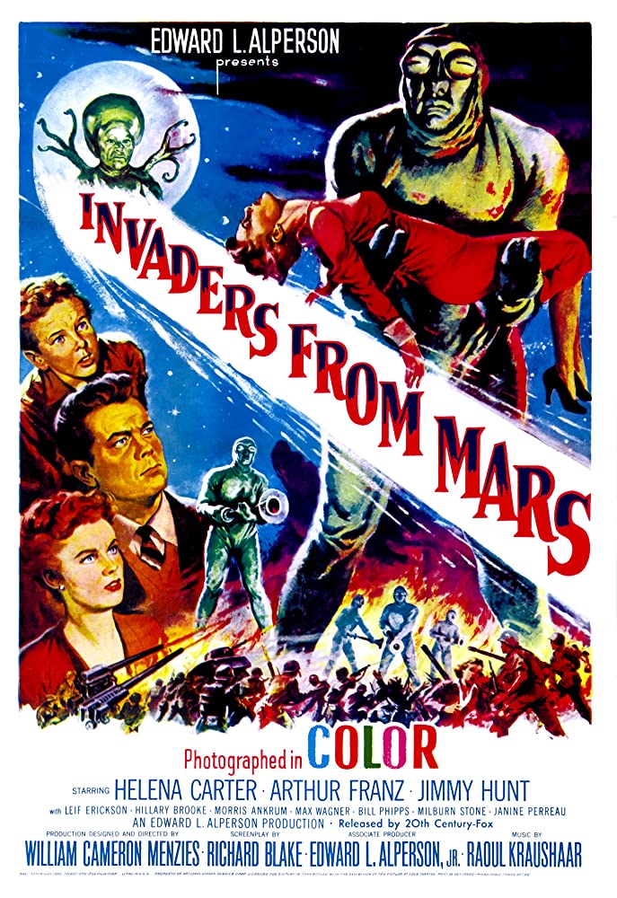 Helena Carter, Arthur Franz, and Jimmy Hunt in Invaders from Mars (1953)