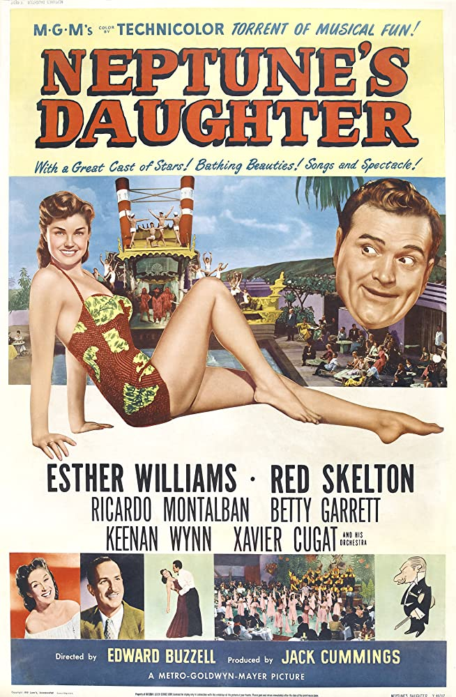 Ricardo Montalban, Xavier Cugat, Betty Garrett, Red Skelton, Esther Williams, and Keenan Wynn in Neptune's Daughter (1949)