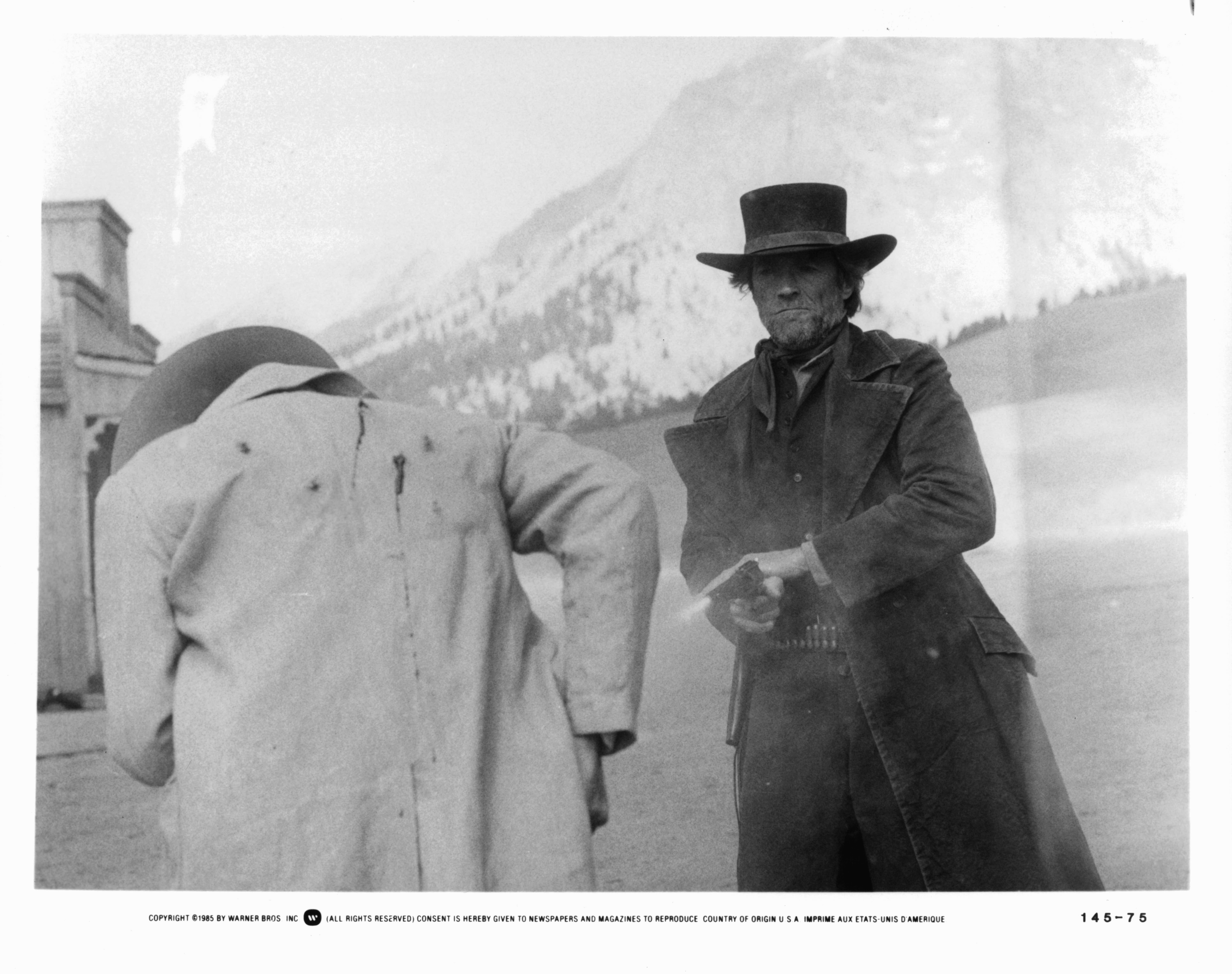 Clint Eastwood and John Russell in Pale Rider (1985)